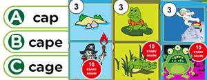 Long 'a' Word Families Game : ace, ake, ade, age, ame, ane, aze, ape, ale, ave, aste, ate
