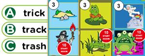 Short 'A' Word Families Game : ack, alf, and, ank, ant, ash, ast