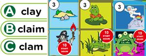 Long 'a' Word Families Game : aid, ail, aim, ain, ay