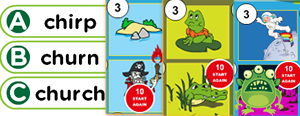 R-Controlled Vowels & Diphthongs Game : ar, ir, ur, er, oi, oy, ow, aw, all
