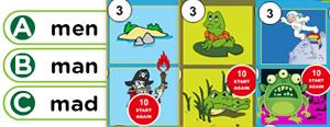 Short 'A' Word Families Game : at, an, am, ab, ag, ap, ad