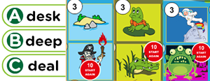 Long 'e' Word Families Game : each, east, eak, eam, ean, eap, ead, eal, eat, ea