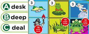 Long 'e' Word Families Game : each, east, eak, eam, ean, eap, ead, eal, eat, ea