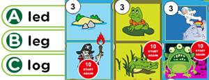 Short 'E' Word Families Game : ed, eg, em, en, ep, et