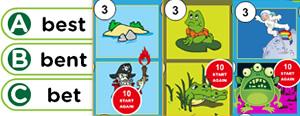 Short 'E' Word Families Game : ell, end, ent, est