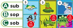 Short 'O' Word Families Game : ob, od, og, om, op, ot, ox