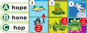 Long 'o' Word Families Game : obe, ode, ope, oke, ole, ose, one, ome, ote, ove, oze