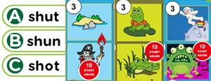 Short 'U' Word Families Game : ub, ug, um, un, up, us, ut