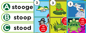 Long 'u' Word Families Game : ube, ude, ute, ule, uke, use, une, ume, oo, ew