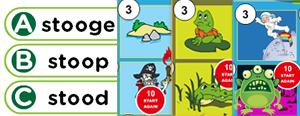 Long 'u' Word Families Game : ube, ude, ute, ule, uke, use, une, ume, oo, ew