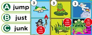 Short 'U' Word Families Game : uck, ump, ung, unk, ust