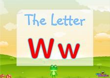 Letter Ww video