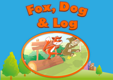 Fox, dog & log video