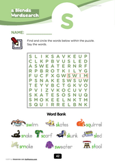 s blends word search