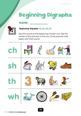 digraphs ch, sh, th, wh