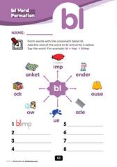 bl consonant blend