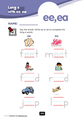 ea vs. ee vowel digraphs