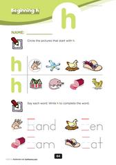 beginning consonant h