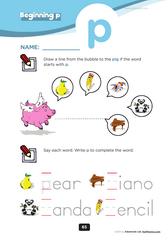 beginning consonant p