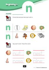 beginning consonant Mm