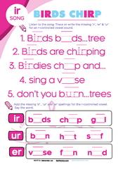 Birds chirp er ir ur vowel