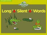 Word Families - long a, silent e family Crocodile Phonics Game