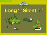 Word Families - long i, silent e Crocodile Phonics Game