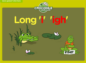 Word Families - igh digraph Crocodile Phonics Game