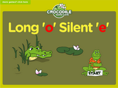 Word Families - long o, silent e Crocodile Phonics Game
