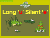 Word Families - long u, silent e Crocodile Phonics Game