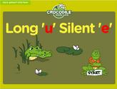 Word Families - long u, silent e Crocodile Phonics Game