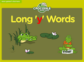 Word Families - y long vowels Crocodile Phonics Game