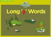 Word Families - y long vowels Crocodile Phonics Game