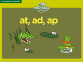 Word Families - at, ad, ap Crocodile Phonics Game