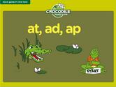 Word Families - at, ad, ap Crocodile Phonics Game