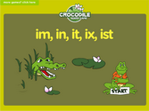 Word Families - in, im, it, ix, ist Crocodile Phonics Game