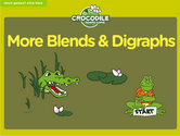Word Families - n, blends, double, digraphs, other Crocodile Phonics Game