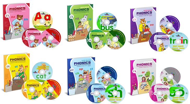 kids phonics books 1 - 6