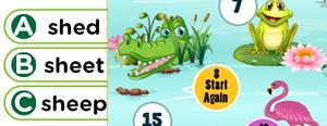 Long 'e' Word Families Game : ee, een, eep, eed, eek, eet