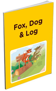 Fox, dog & log