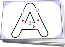 alphabet outlines flashcards